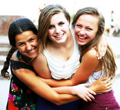 Students girls Stock Photo