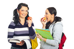 Students girls in a school break Stock Photos