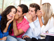 Students gossiping Stock Images
