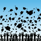 Students Graduating. An image of students graduating Royalty Free Stock Photography