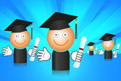 Students after graduation Stock Photo