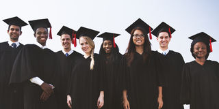Students Graduation Success Achievement Concept stock photos