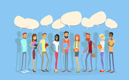 Students Group People Chat Bubble Social Network Communication Stock Photo