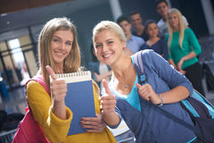 Students group  study Stock Image