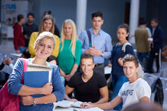 Students group  study Stock Photos