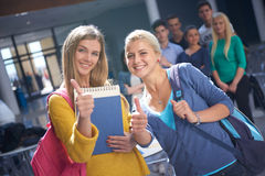 Students group  study Royalty Free Stock Images