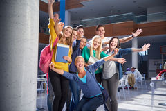 Students group  study Royalty Free Stock Photos