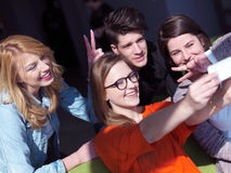 Students group taking selfie Stock Image