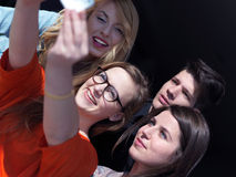 Students group taking selfie Royalty Free Stock Photo