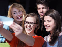 Students group taking selfie Royalty Free Stock Photography
