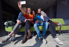 Students group taking selfie Stock Images