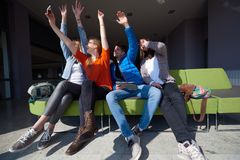 Students group taking selfie Royalty Free Stock Photos