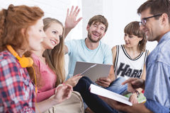 Students in group stock photography