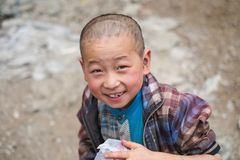 Students in Guizhou mountain region Royalty Free Stock Photo
