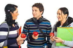 Students having conversation Royalty Free Stock Photography