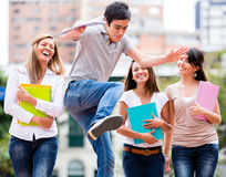 Students having fun Stock Photography