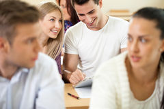 Students having fun on class Royalty Free Stock Photos