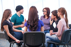 Students having workshop. Stock Photo
