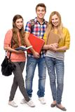 Students holding books Royalty Free Stock Images