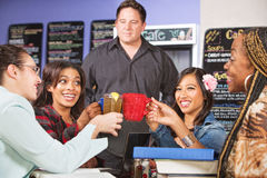 Students Holding Drinks Royalty Free Stock Photos