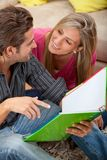 Students at home Royalty Free Stock Images