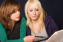 Students at homework Stock Image