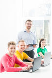 Students at the informatics and programming lesson.  Stock Photography