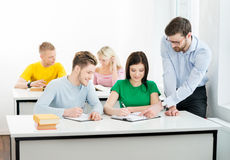 Students at the informatics and programming lesson.  Stock Photo