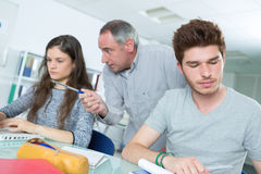 Students at informatics and programming lesson Royalty Free Stock Images