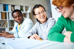 Students interacting Stock Photography