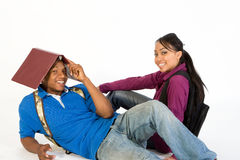 Students Joking Around - Close Up - Horizontal Royalty Free Stock Images