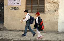 Students in Kirkuk Stock Image