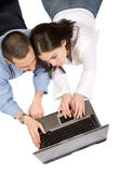 Students on a laptop Royalty Free Stock Photo