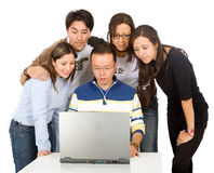 Students on a laptop Stock Image