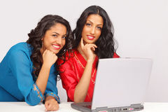 Students on laptop Royalty Free Stock Photography