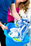 Students in a laundry Stock Photography