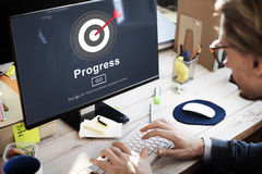Students Learning Biology E-learning Concept Royalty Free Stock Photo