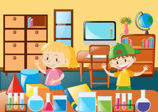Students learning in classroom royalty free illustration