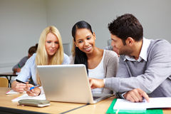 Students learning together Royalty Free Stock Photos