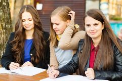 Students learning together Stock Photography