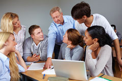 Students learning in university stock image