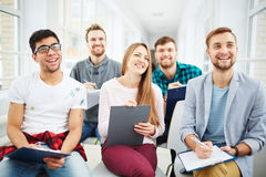 Students at lecture Stock Photography