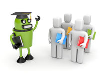Students and lecturer or academic Stock Images