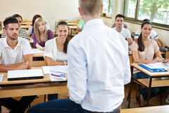 Students on lecturer Royalty Free Stock Image
