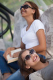 Students leisure time, reading and relax Stock Photography
