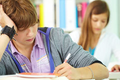 Students at lesson Royalty Free Stock Images