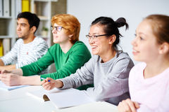Students at lesson Royalty Free Stock Image