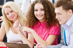 Students at lesson royalty free stock photos