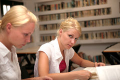 Students in library Stock Image