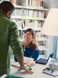 Students in library Royalty Free Stock Photos